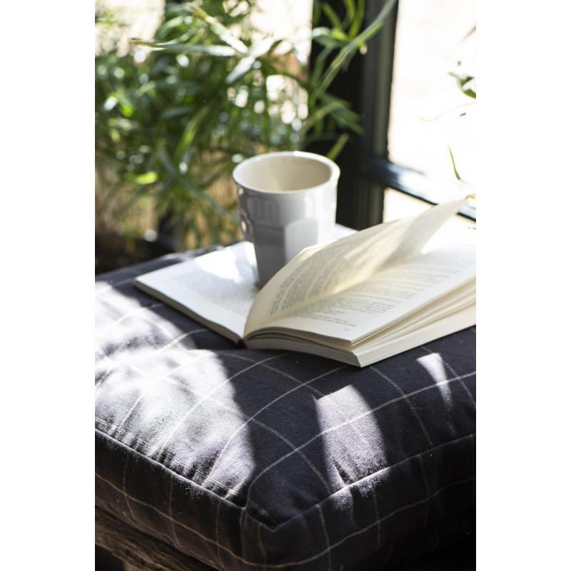 IB Laursen Sitzkissen Hülle schwarz Karo 45x45 cm