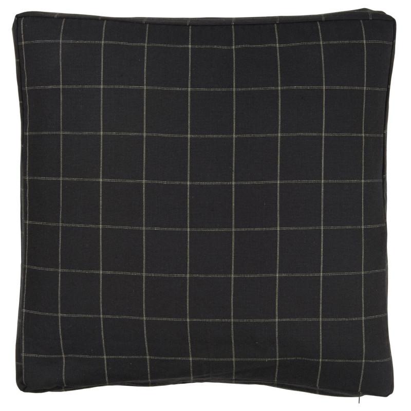 IB Laursen Sitzkissen schwarz Karo aus Baumwolle