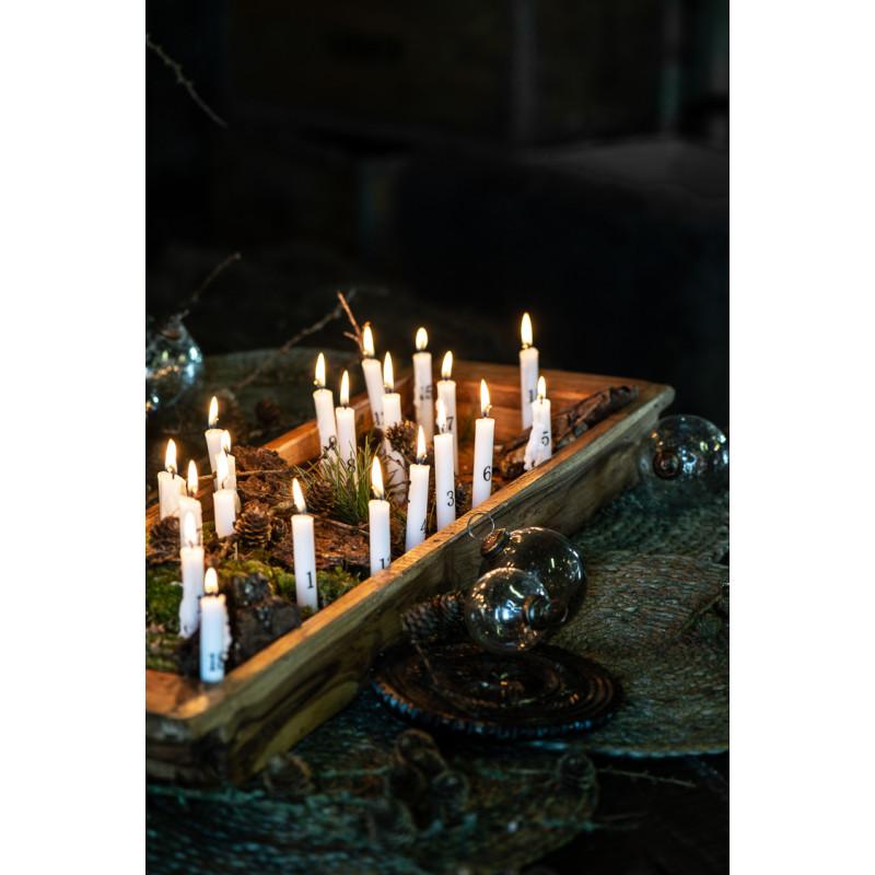 IB Laursen Tannenbaumkerzen weiss mit Zahlen Kerzen für Gestecke Dekoration