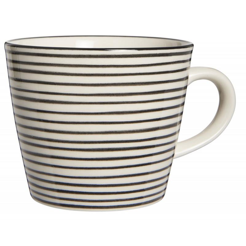 IB Laursen Tasse Casablanca schwarz mit Streifen