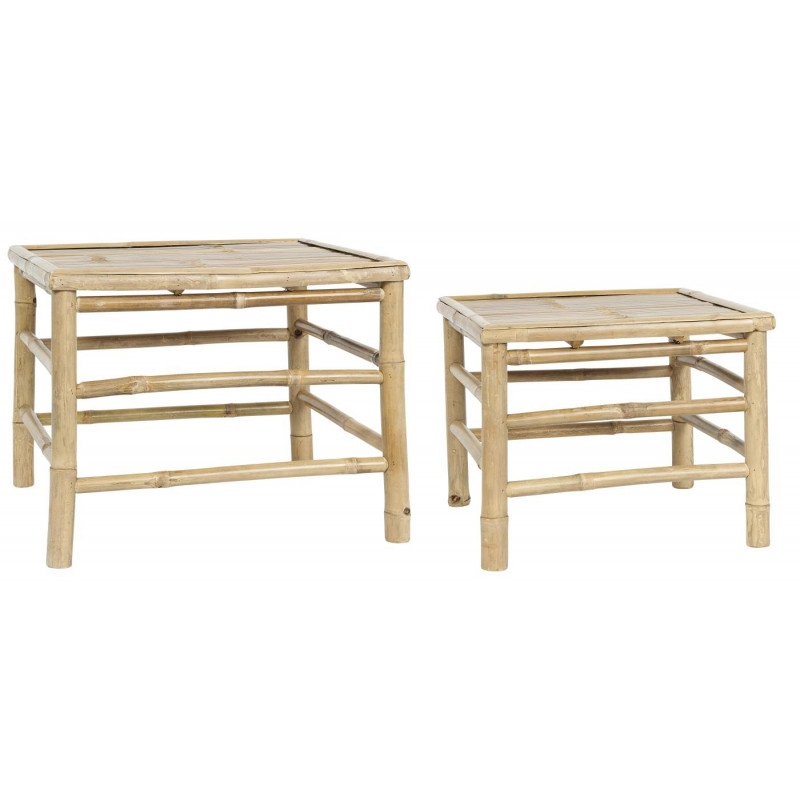 IB Laursen Tisch Bambus 2er Set Beistelltische Garten Möbel IB Laursen Tisch Set Nr 2295-00