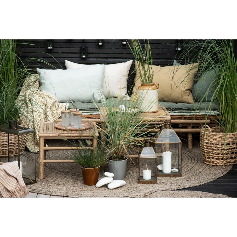 IB Laursen Tisch Bambus Beistelltische auf der Terrasse Möbel Tisch Set 54x54 cm und 47x47 cm