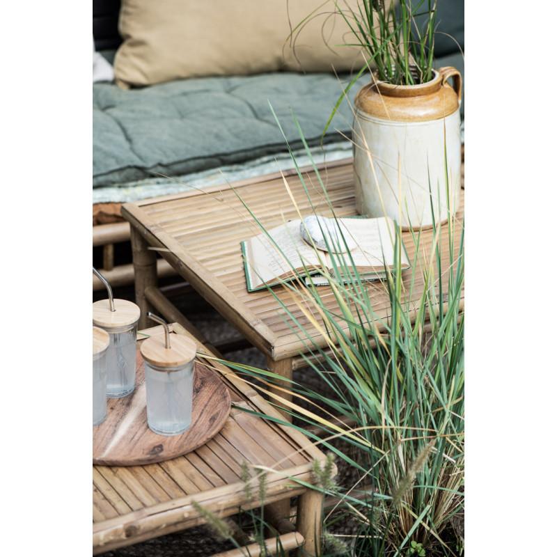 IB Laursen Tisch Bambus Beistelltische für Garten und Terrasse Möbel Tisch Set
