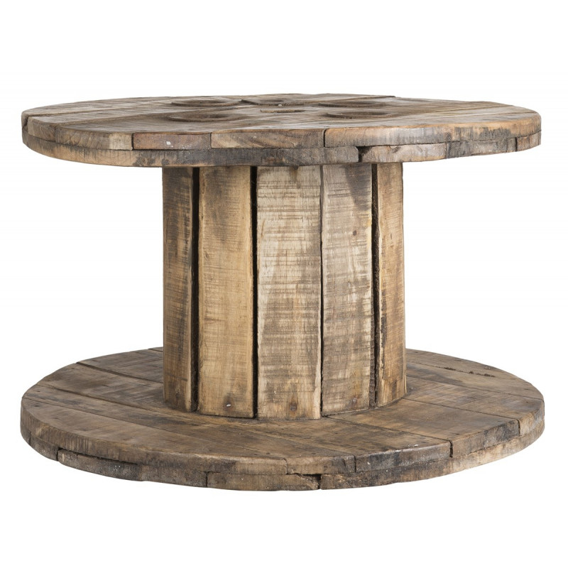 IB Laursen Tisch Kabeltrommel Unika Holz Beistelltisch Unikat