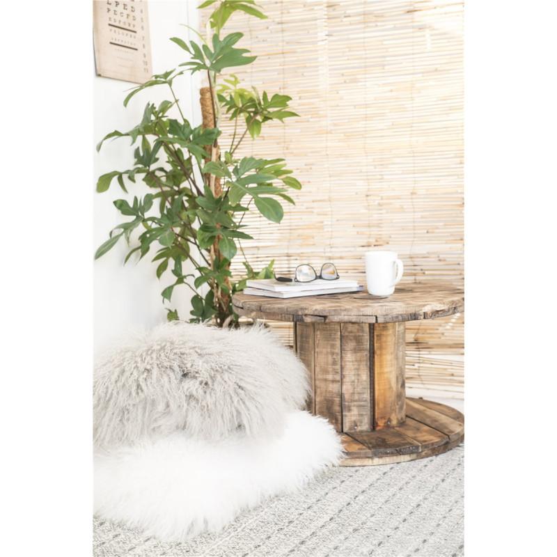 IB Laursen Tisch Unika Kabeltrommel Holz Beistelltisch