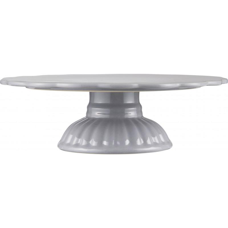 IB Laursen Tortenplatte grau Mynte Geschirr Kollektion French Grey Servierplatte