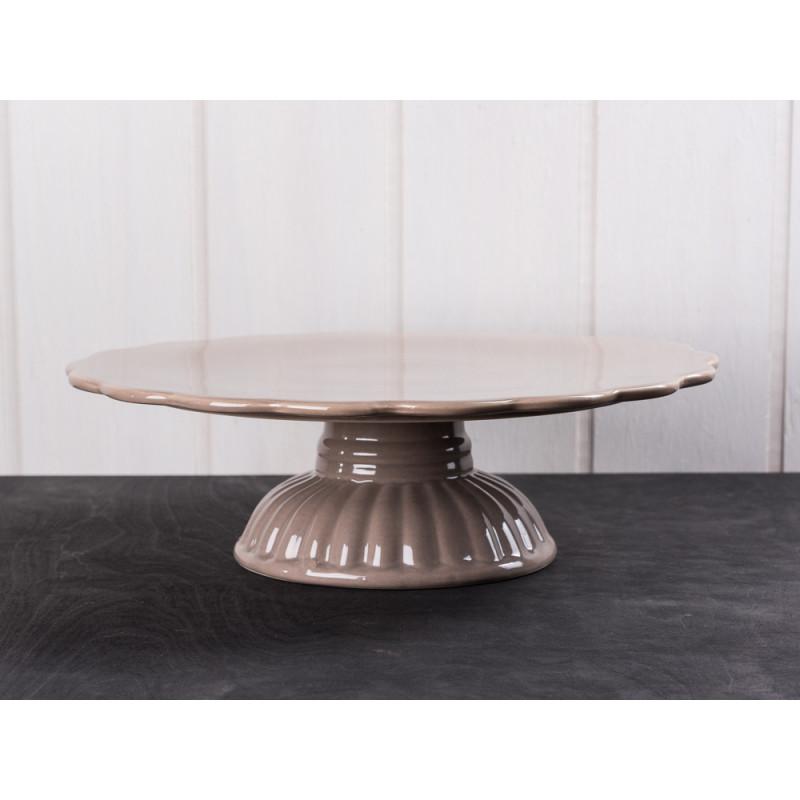 Ib laursen tortenplatte mynte milky brown hellbraune kuchenplatte aus der mynte keramik - Kuchenplatte wand ...