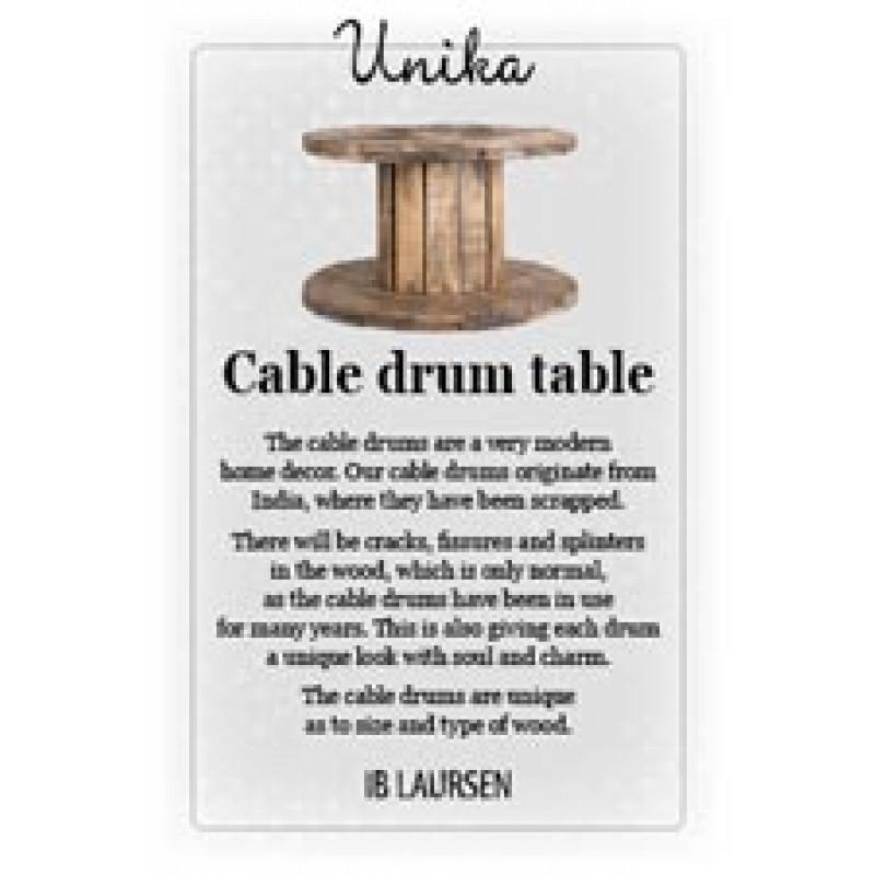 IB Laursen Was bedeutet Unika Beschreibung Kabeltrommel Tisch aus Holz