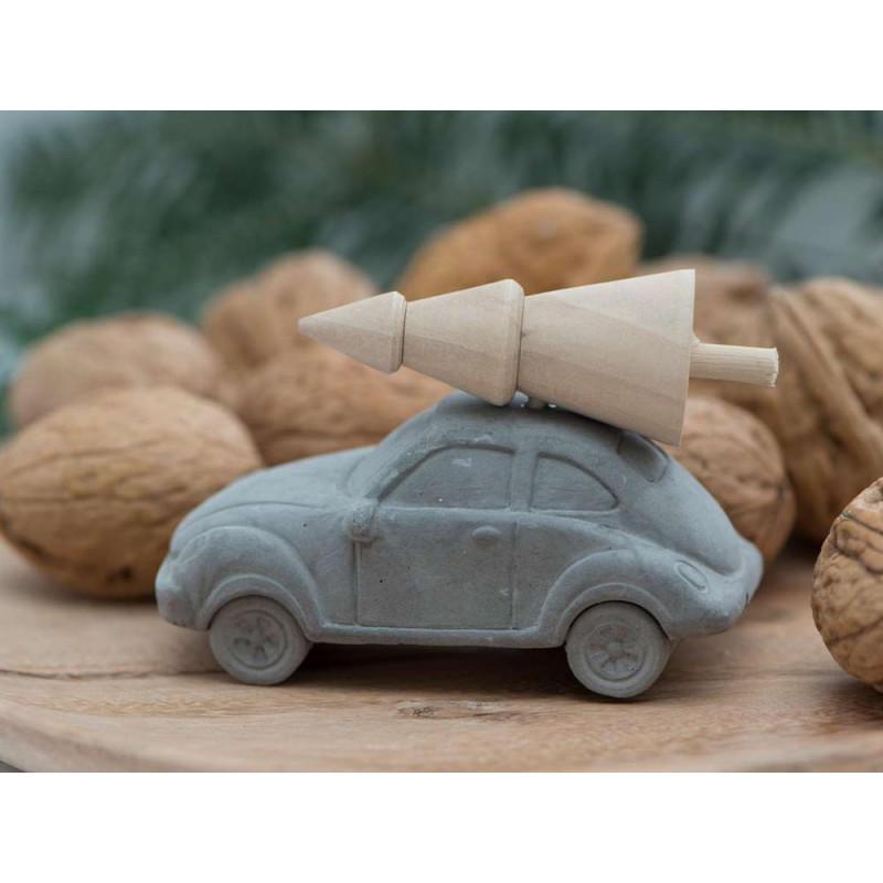 IB Laursen Weihnachten Deko Auto mit Baum auf dem Dach klein