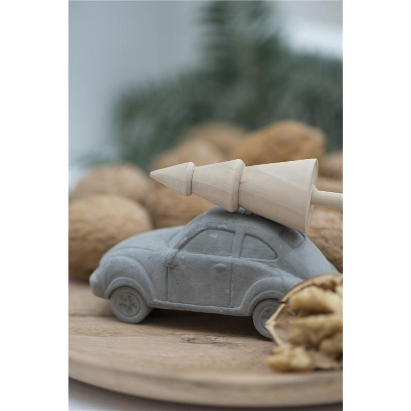 IB Laursen weihnachtliche Deko Auto mit Baum auf Dach klein
