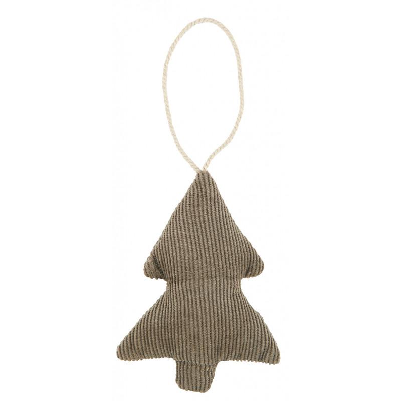 IB Laursen Weihnachtsdeko Hänger Tannenbaum aus Baumwolle Braun Cordstoff