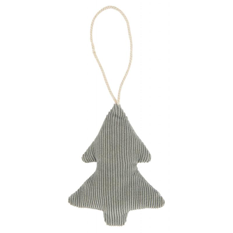 IB Laursen Weihnachtsdeko Hänger Tannenbaum aus Baumwolle Grau Cordstoff