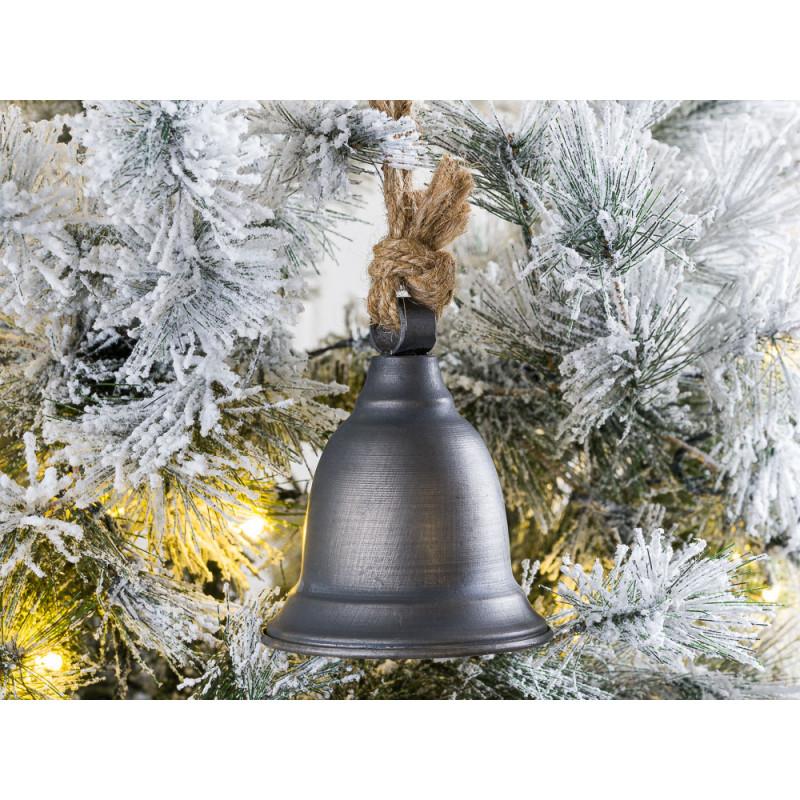 IB Laursen Weihnachtsdeko und Adventsdeko Glocke Hänger aus Metall Grau 12 cm Geschenkidee Hygge