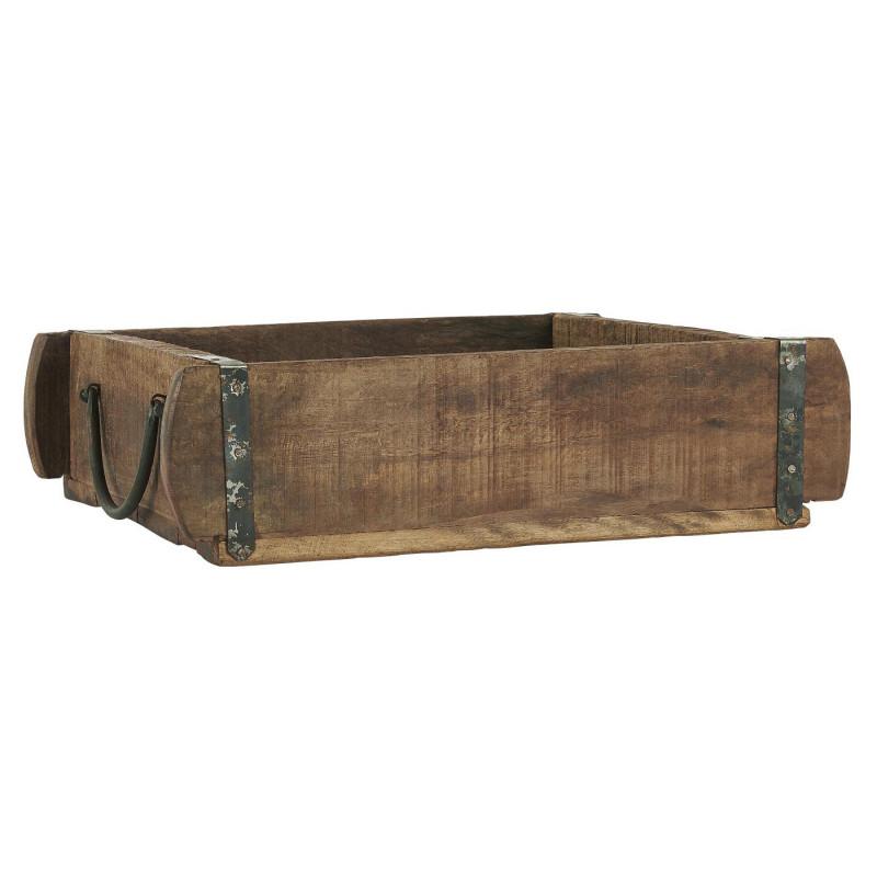 IB Laursen Ziegelform Kiste mit Henkeln aus Holz UNIKA Kiste 25x30 IB Produkt Nr 3588