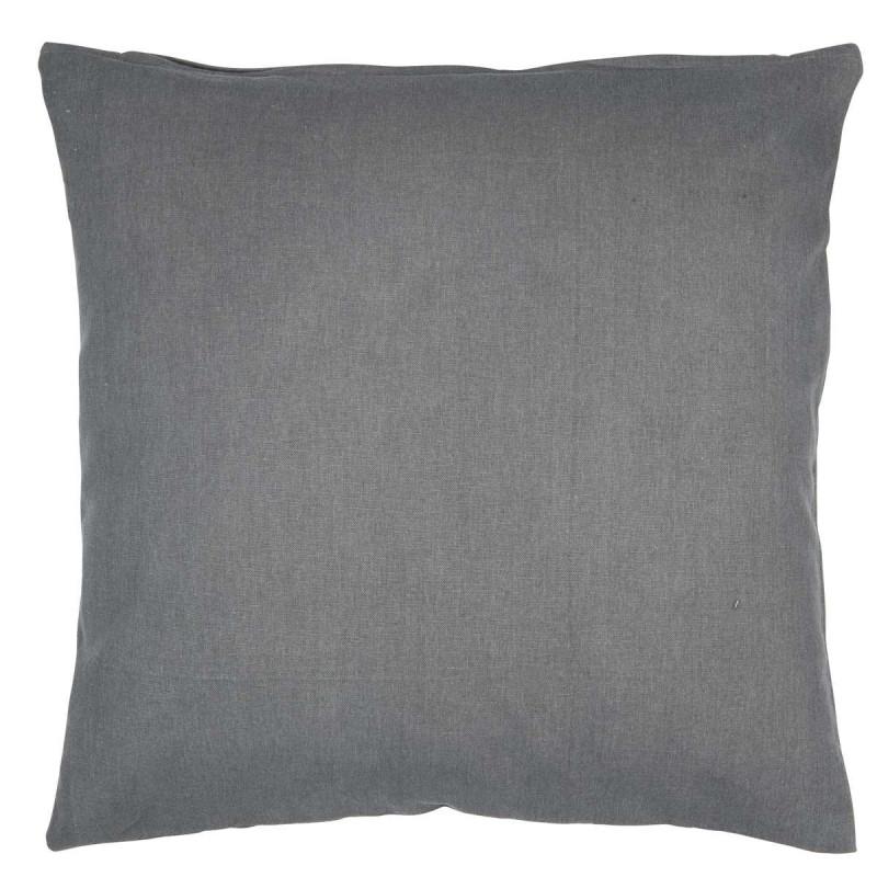 Kissenbezug grau einfarbig Baumwolle dunkelgrau 50 x 50 cm Kissenhülle IB Laursen