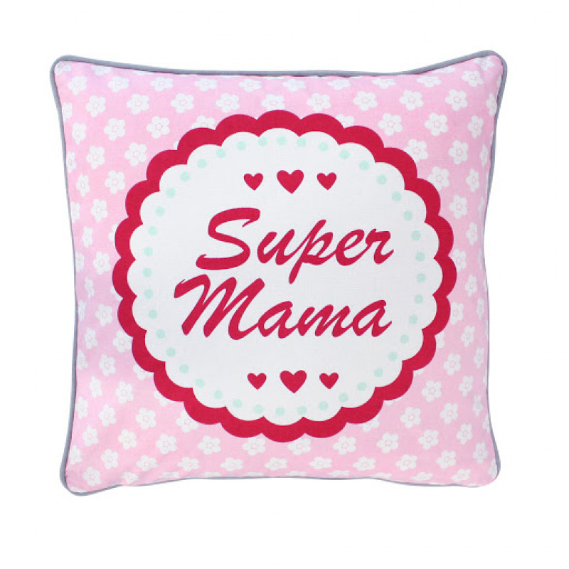 Kissenhülle Super Mama Krasilnikoff
