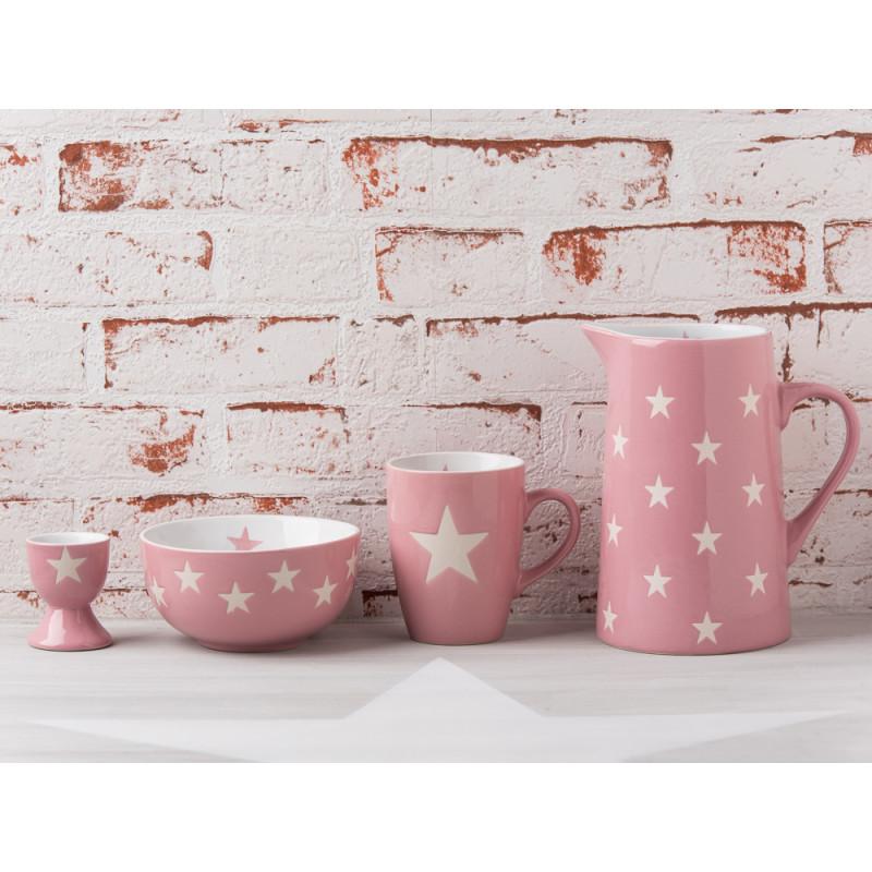 Krasilnikoff Brightest Star rosa pink Krug Becher Schale Eierbecher mit Sternen