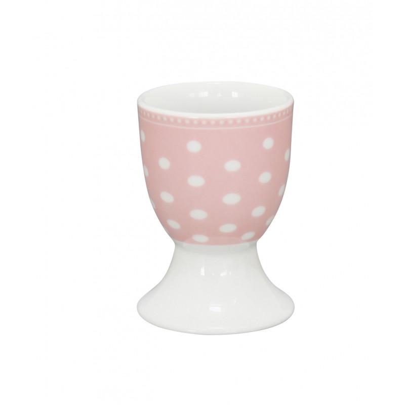 krasilnikoff eierbecher punkte rosa mit wei en punkten. Black Bedroom Furniture Sets. Home Design Ideas
