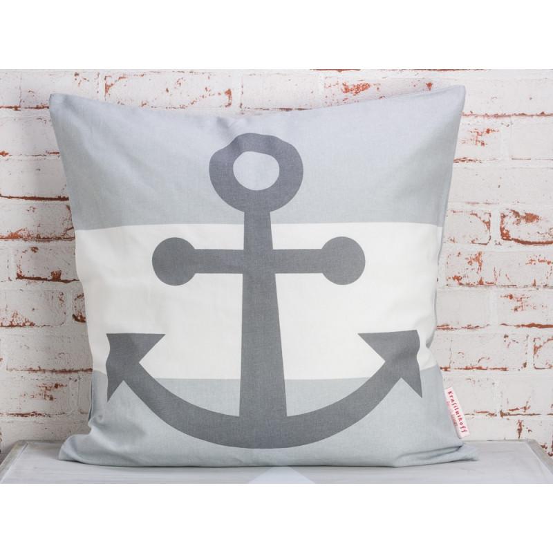 krasilnikoff kissen anker grau jetzt hier bestellen. Black Bedroom Furniture Sets. Home Design Ideas