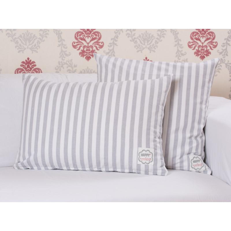 krasilnikoff kissen streifen hellgrau wohnhaus welten. Black Bedroom Furniture Sets. Home Design Ideas