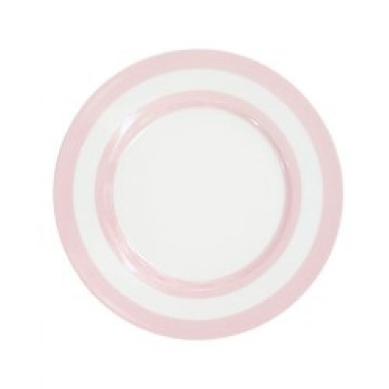 Krasilnikoff Teller Streifen rosa weiß Kuchenteller