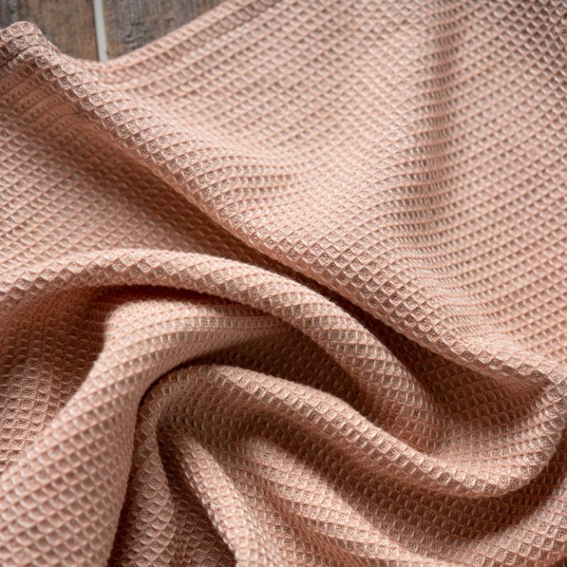 Linum Geschirrtuch Agnes Rosa Farbe und Struktur Design im Detail Geschirrhandtuch 50x70 aus Baumwolle