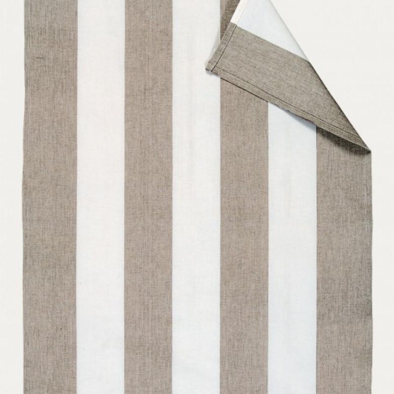 Linum Geschirrtuch Ravioli Taupe Streifen Baumwolle 50x70 Geschirrhandtuch Linum Design Nr 13rav05700g14