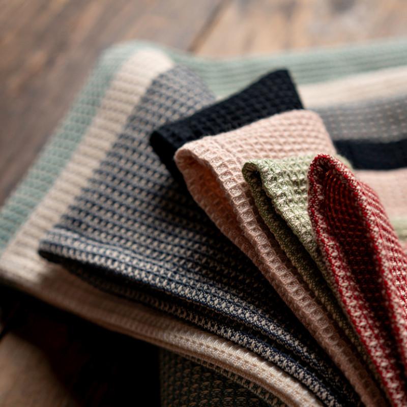 Linum Geschirrtücher Agnes Farbauswahl und Material Struktur Design im Detail Geschirrhandtücher Baumwolle