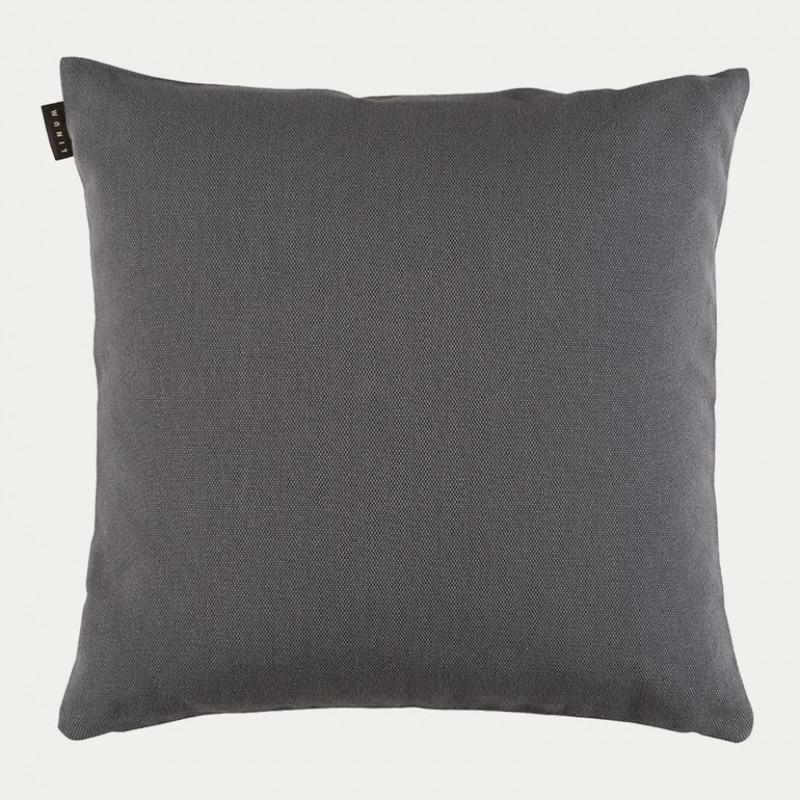 Linum Kissen Pepper Granitgrau Baumwolle Dunkel Grau Kissenhülle 50x50 Linum Design Nr 23pep05000g19