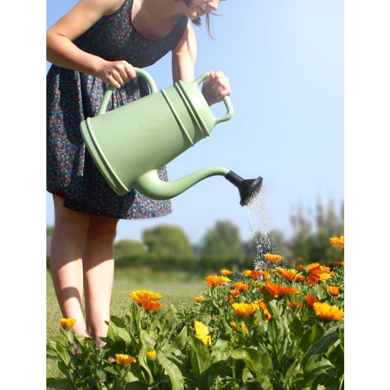 Lungo Gießkanne 12 Liter grün Garten Deko Kaffeekannen Design von Xala