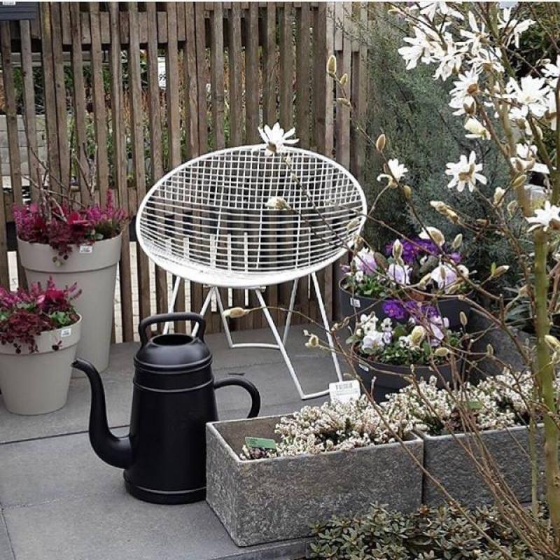 Lungo Gießkanne schwarz nostalgische Garten Deko Kaffeekannen Design von Xala