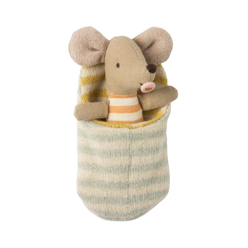 Maileg Baby Maus im Schlafsack 9 cm groß