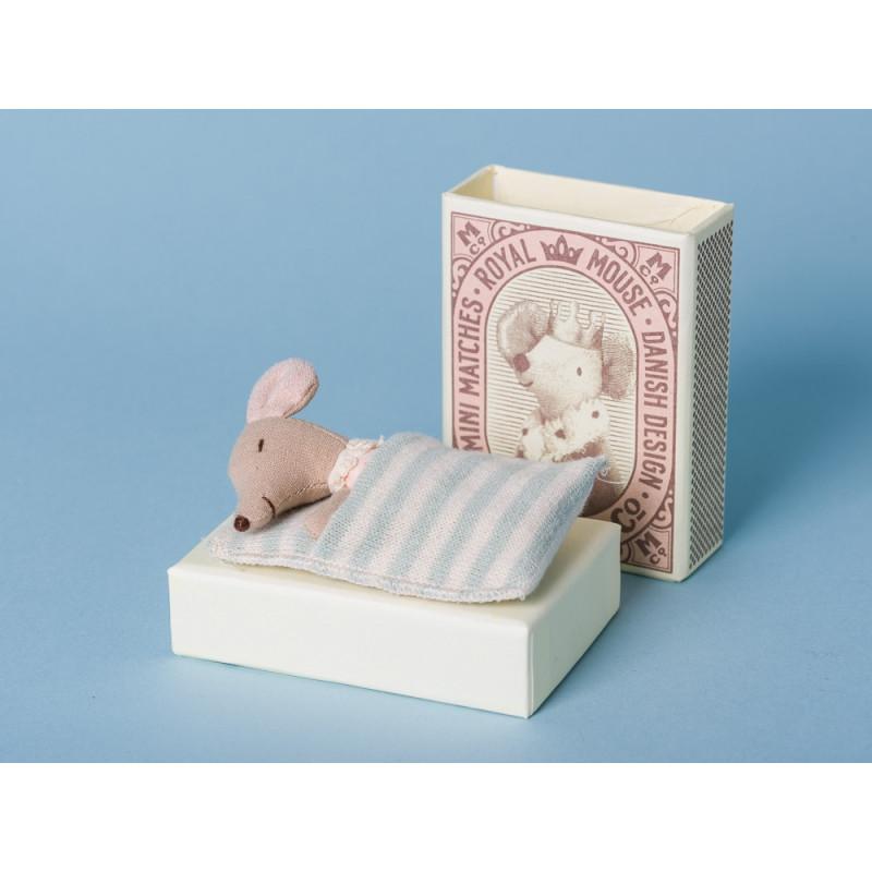 Maileg Baby Maus Sleepy/Wakey Mädchen in Box schlafen Streichholz Schachtel sammeln