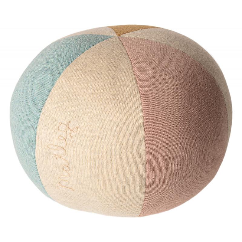 Maileg Ball Hellblau Rose Spielzeug aus Öko Tex Baumwolle 19 cm zum Kuscheln oder Spielen