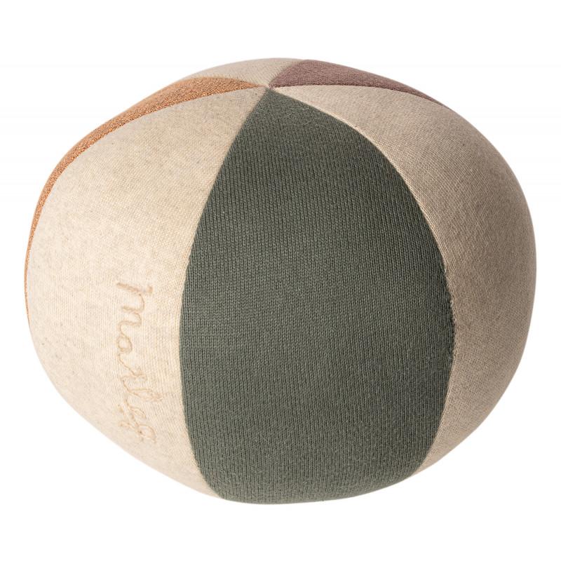 Maileg Ball Staubig Grün Koralle Glitzer Spielzeug aus Öko Tex Baumwolle 19 cm zum Kuscheln oder Spielen