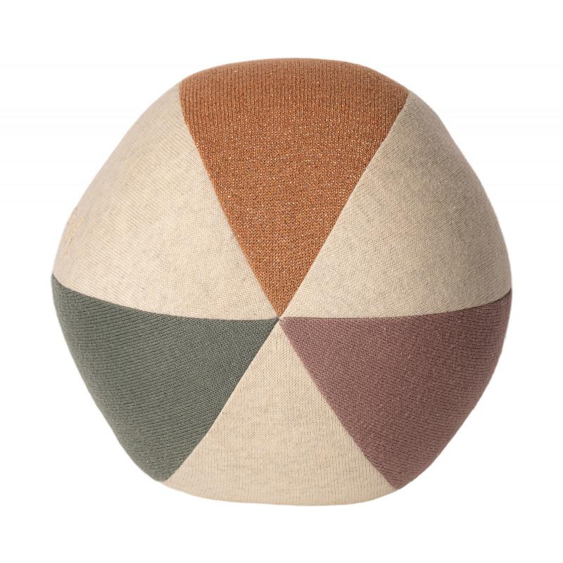 Maileg Ball Staubig Grün Natur Koralle aus Öko Tex zertifizierter Baumwolle Spielzeug
