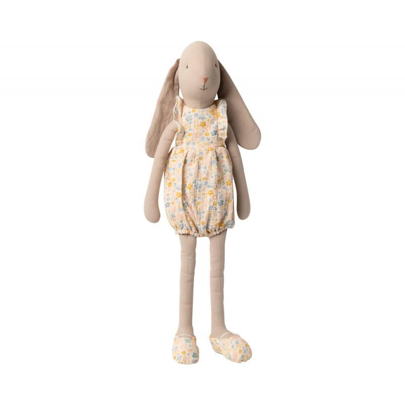 Maileg Bunny im Jumpsuit mit Blumen Muster Size 4 Höhe 55 cm Maileg Hase Nr 16-0401-00