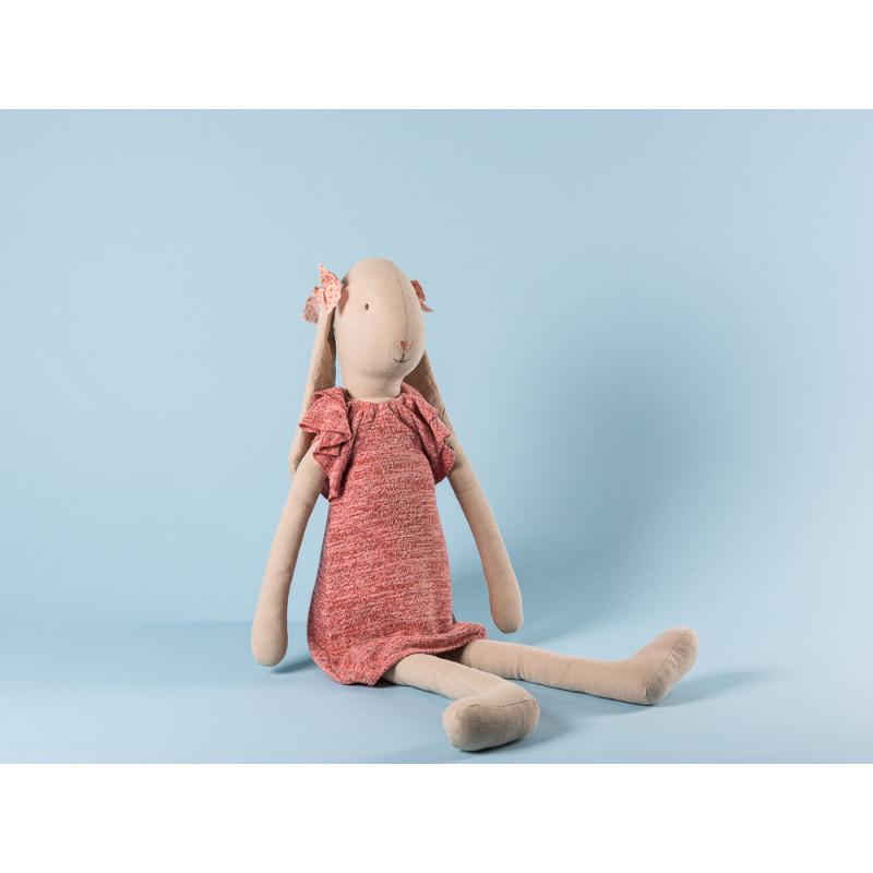 Maileg Bunny Size 5 im gestricktem Kleid Hase mit Schlappohren 66 cm groß zum Sammeln und schenken