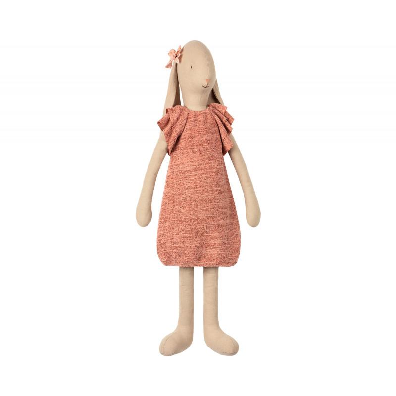 Maileg Bunny Size 5 knitted Dress Hase Schlappohren im gestricktem Kleid 66 cm groß