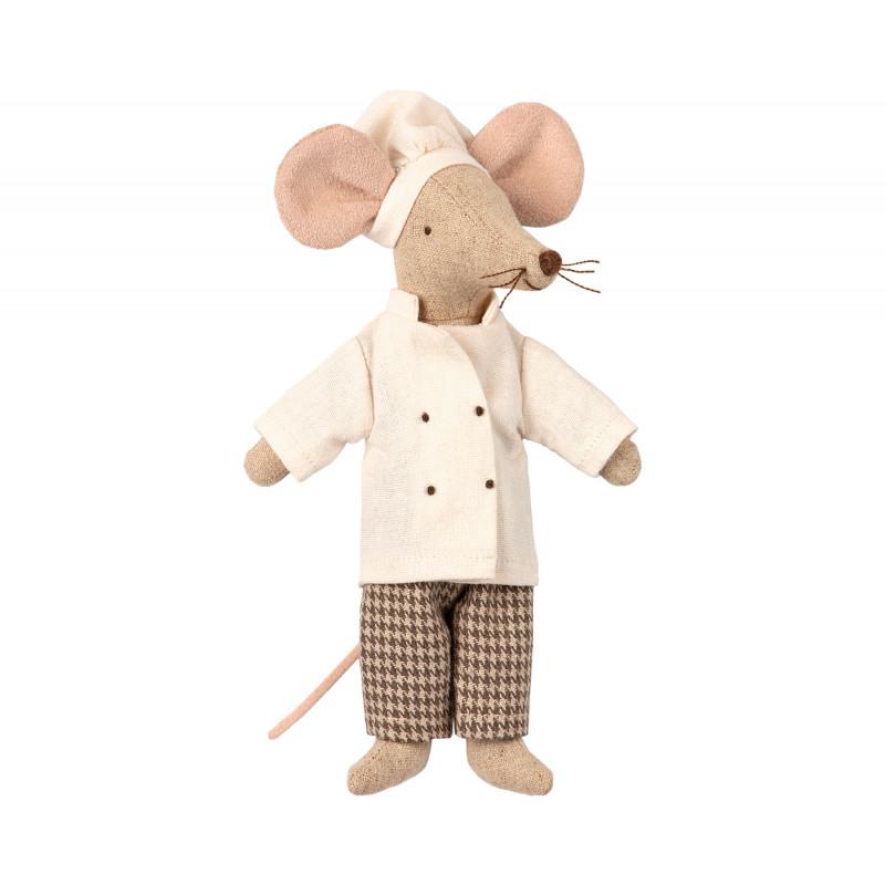 Maileg Chef Mouse Koch Maus mit Kochmütze Kuscheltier Größe 15 cm