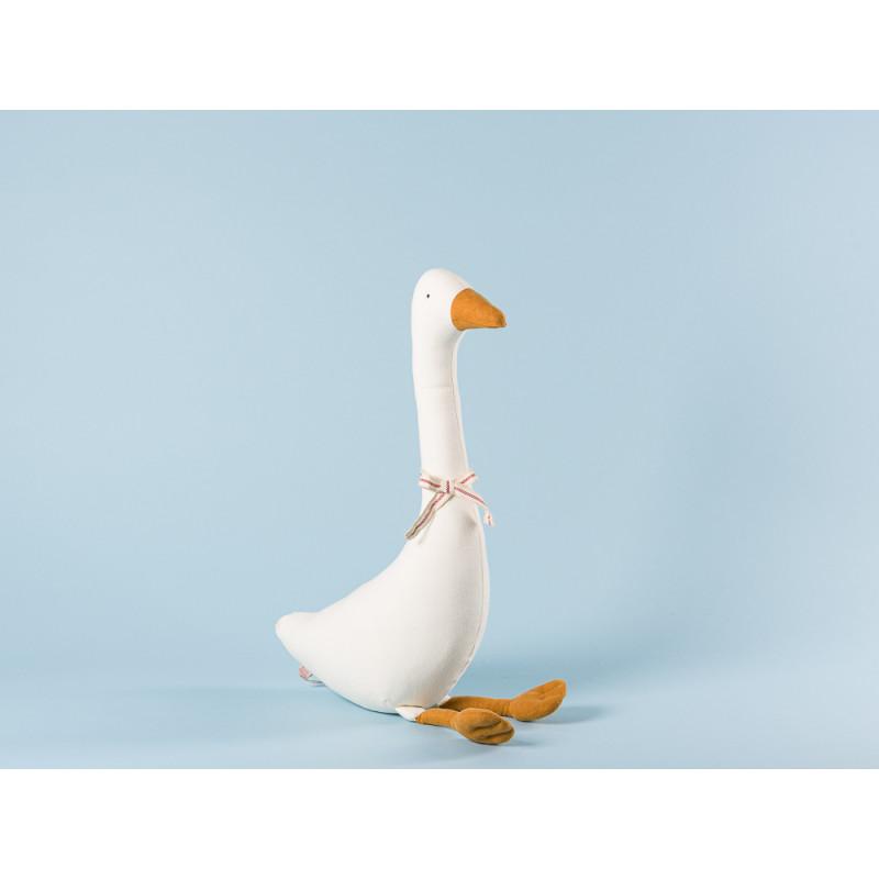 Maileg Gans klein weiß mit Schleife sitzend Kuscheltier Geschenk Winter Deko 41 cm