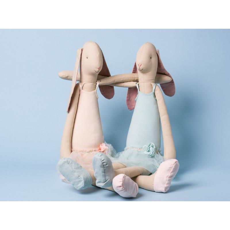 Maileg Hase Ballerina Mega Tänzerin im Kleid in rosa und grün Mega Bunny
