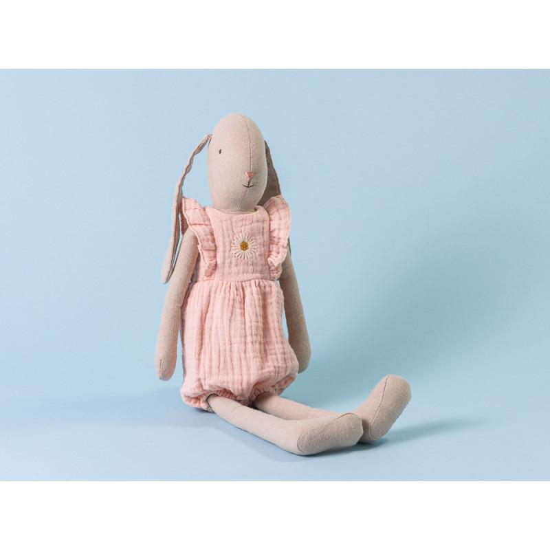 Maileg Hase Bunny im Jumpsuit rosa mit Stickerei Size 3 42 cm hoch