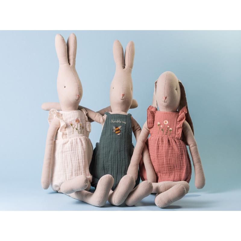 Maileg Hase Bunny und Rabbit Jumpsuit und Overall umarmen sich Size 5 zum spielen und sammeln