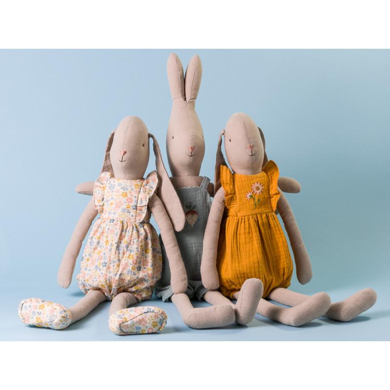 Maileg Hase Bunny und Rabbit Jumpsuit und Overall Umarmung Size 4