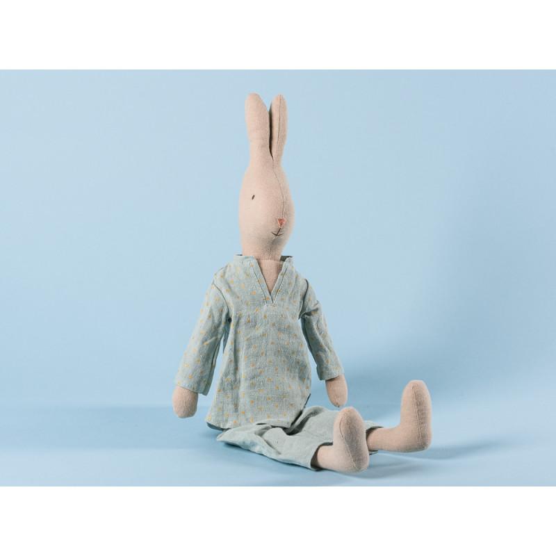Maileg Hase im Pyjama Schlafanzug Mint farbig mit Punkten 44 cm groß Size 3