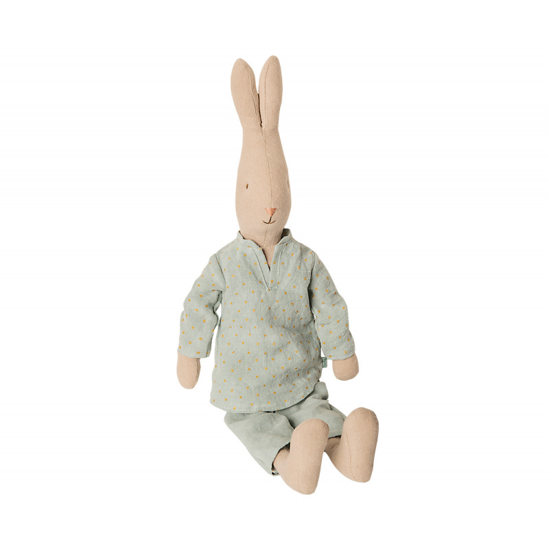 Maileg Hase im Pyjama Schlafanzug uni farbig 44 cm groß Maileg Size 3