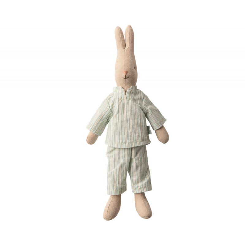Maileg Hase Junge im gestreiften Pyjama Maileg Size 1 stehend 25 cm groß