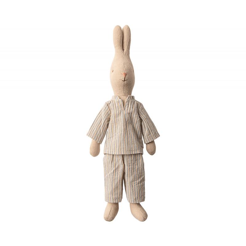 Maileg Hase Junge im Pyjama mit Streifen Maileg Size 2 aufrecht stehend 28 cm groß