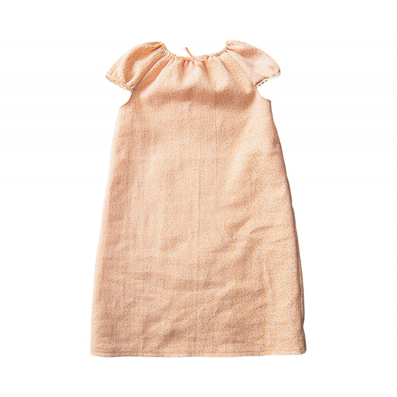 Maileg Hase Mädchen Nachthemd mit Punkten fuer Maileg Size 3 groß im Detail